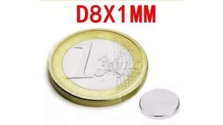 25 Magneten van  8 x 1 mm