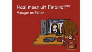 Haal meer uit Embird 2018 Manager en Editor