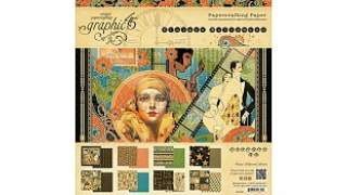 Graphic 45 Vintage Hollywood 8x8 Inch Paper Pad